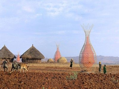 Handwoven dew collecting tower aims to ease Africa's water crisis (Video)