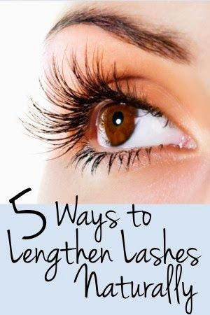5 Ways to Naturally Lengthen Eyelashes - You know those eyelashes lengthening products that promise to lengthen your lashes but will potentially darken your irises permanently? Yikes. Those scare me. No thanks. However, there are a ton of home remedies out there to try that may naturally lengthen your lashes!