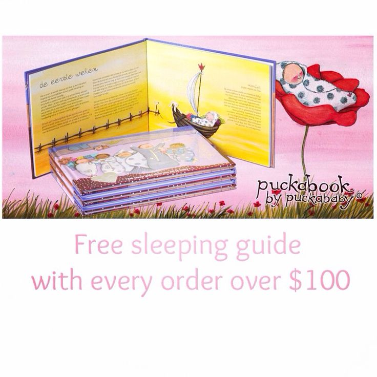 The Puckabook, a beautifully illustrated sleeping guide full with tips from baby sleep experts. And now free with every order over $100!