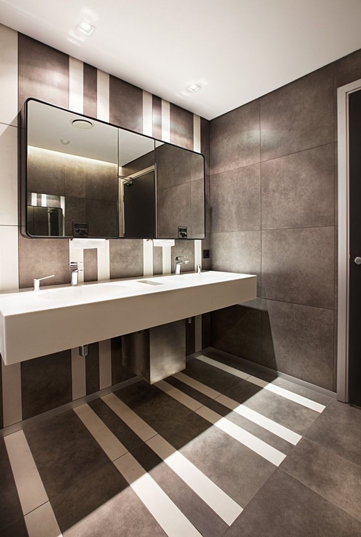Best 25 commercial bathroom ideas ideas on pinterest for Industrial bathroom ideas