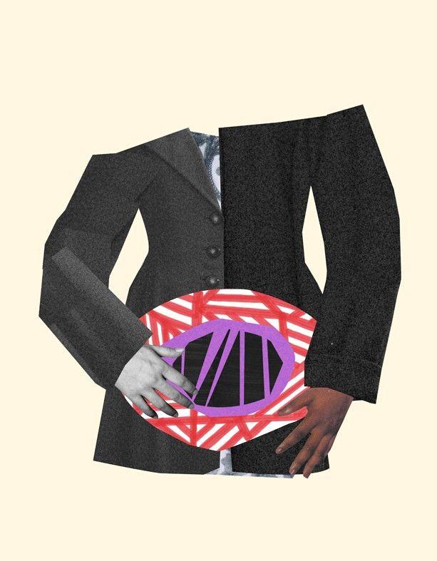 """DET VAR INGEN SOM BERÄTTADE"" by Isabel Leal Bergstrand. Available at: http://www.arrivals.se/product/det-var-ingen-som-berättade-by-isabel-leal-bergstrand #art #affordable #affordableart #arrivals #collage #beige #gray #red #purple #suit"