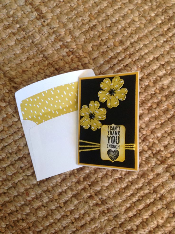 Stampin Up - Flower Shop and Chalk Talk stamps, Crushed Curry Baker's Twine , Card and stamp pad. DSP