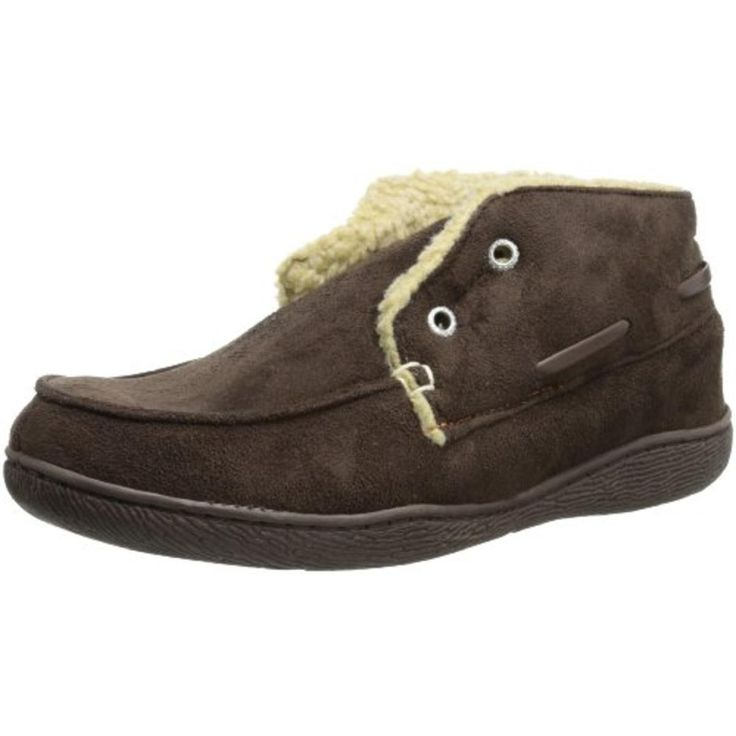 Dockers 2021 Mens Brown Laceless Lined Slip On Bootie Slippers Shoes M 8-9. DA 6000