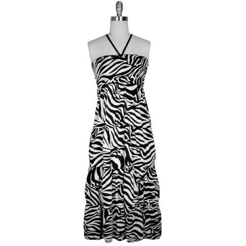 Maxi dress zebra print table runner