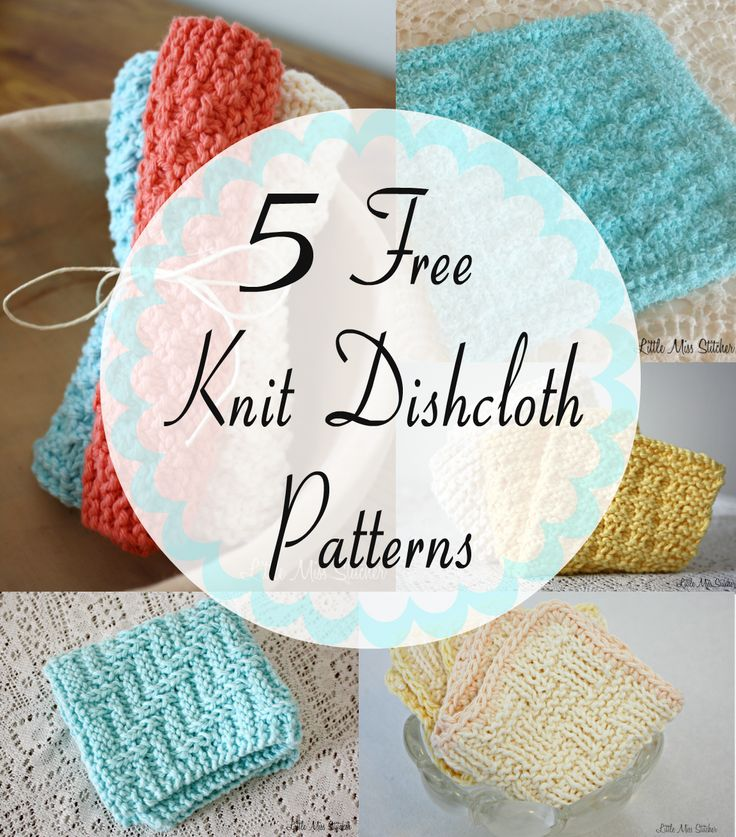 5 Free Knit Dishcloth Patterns. There's something satisfying about making something both functional and pretty!