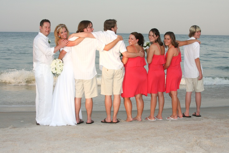 casual beach wedding Casual beach wedding, Beach wedding