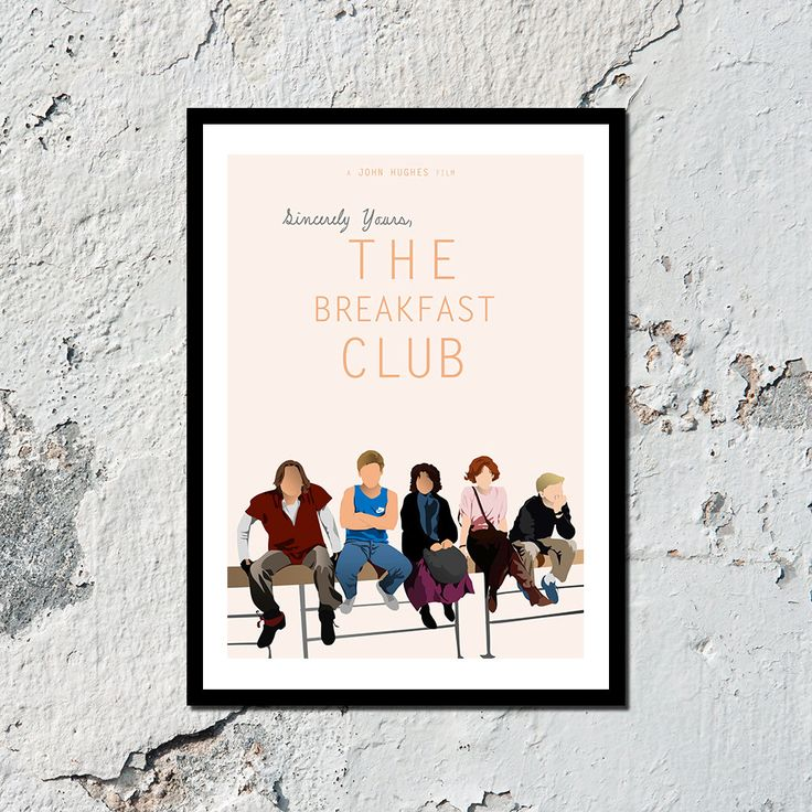 The Breakfast Club high quality film print A5 by MerryNotesDesigns