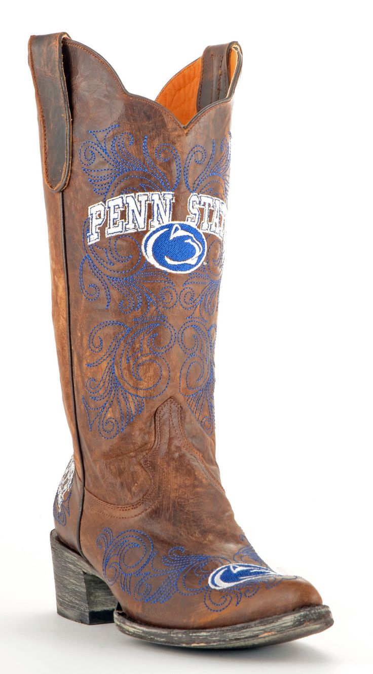 The Pennsylvania State University boots from Gameday Boots are the perfect footwear for a Nittany Lion tailgater, game or party. Step out in these ladies Penn State boots and show your pride in the Ni