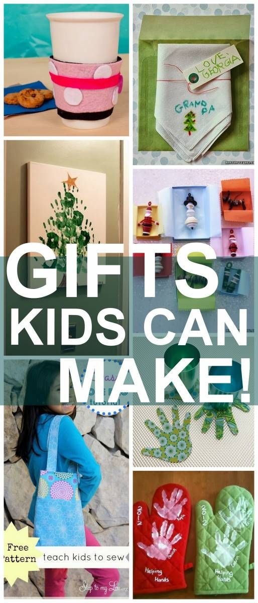 Here are 25 EASY ideas your kids can make on their own and give this Chirstmas!