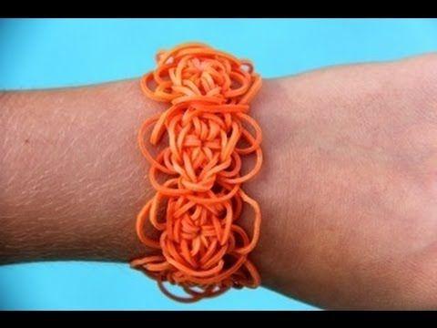 Rainbow Loom Nederlands Oranje WK Armband - Loomsy Bloom Bracelet - YouTube
