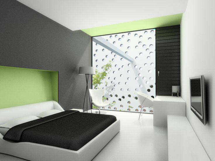 : Modern Homes Design, Bedrooms Decoration, Black And White, Bedrooms Design, Decoration Idea, White Bedrooms, Bedrooms Idea, Minimalist Bedrooms, Modern Bedrooms