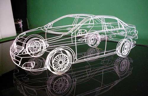 Incredible Three-Dimensional Wire Cars (12 pics + video) - My Modern Metropolis