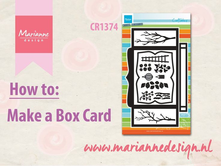 How to make a Box Card with the CR1374 - YouTube