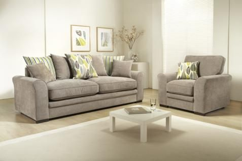 Brighton 4 Seater Pillow Back Sofa includes scatter cushions.