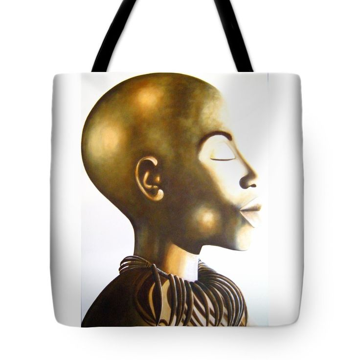 """African Elegance Sepia Tote Bag 18"""" x 18"""" by Tracey Armstrong"""