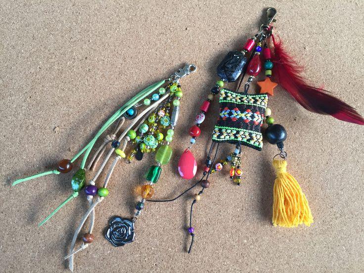 Boho feather charm/ bohemian jewellery /Boho tassel key chain /key chain boho / gypsy beach bag charm /gift key chain/ key chain boho tassel by BelaCiganaBags on Etsy