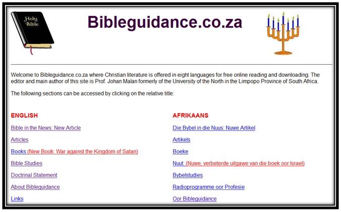 Bible Guidance of Prof. Johan Malan