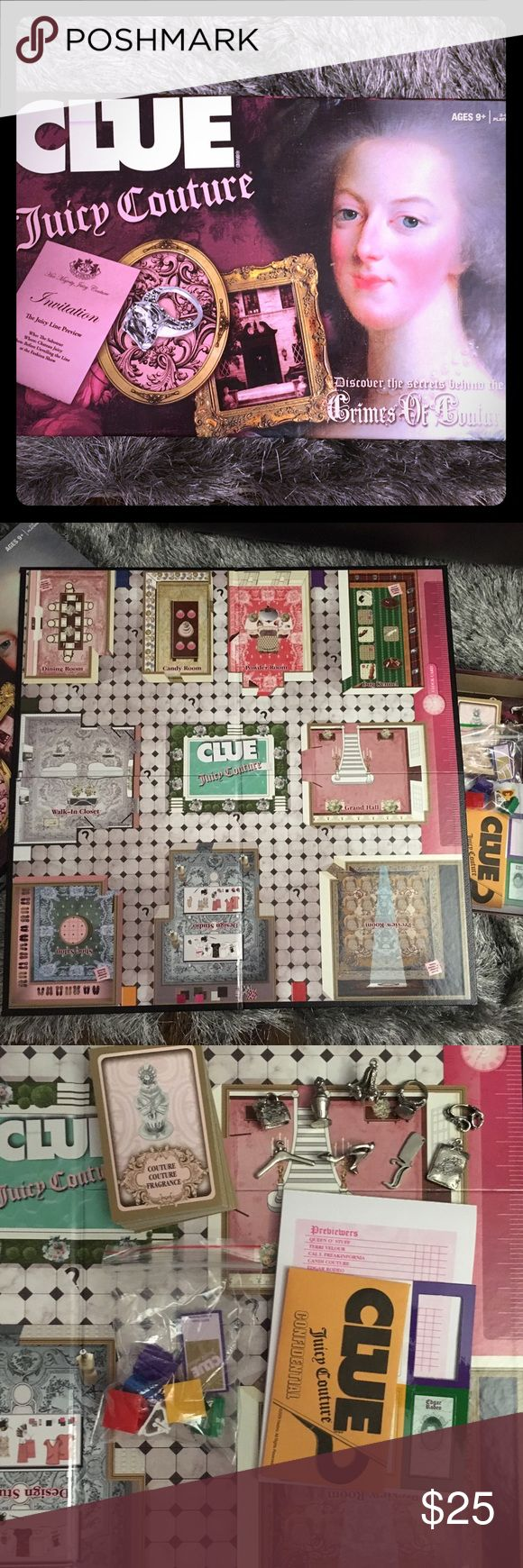 Juicy Couture Clue Board Game Juicy's version of Clue / Like new, has all pieces Juicy Couture Other