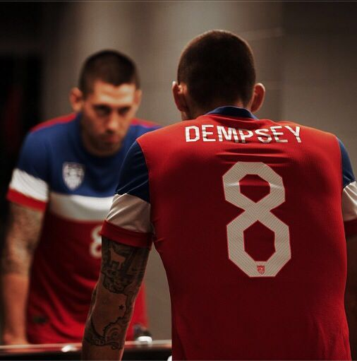 Clint Dempsey. Captain America. now live: USA:Belgium after 25min 0:0