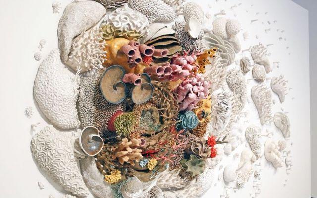 """Courtney Mattison ricostruisce la barriera corallina con centinaia di delicate ceramiche artigianali La serie di opere """"Changing seas III"""", dell'americana Courtney Mattison, è sia un ode alla bellezza esotica della barriera corallina, che un monito alle abitudini sbagliate dell'uomo. Che, causando i #arte #installazione #scultura #mare"""