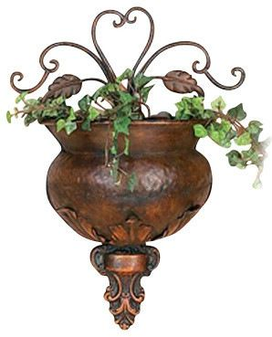 Metal Wall Planter traditional-indoor-pots-and-planters