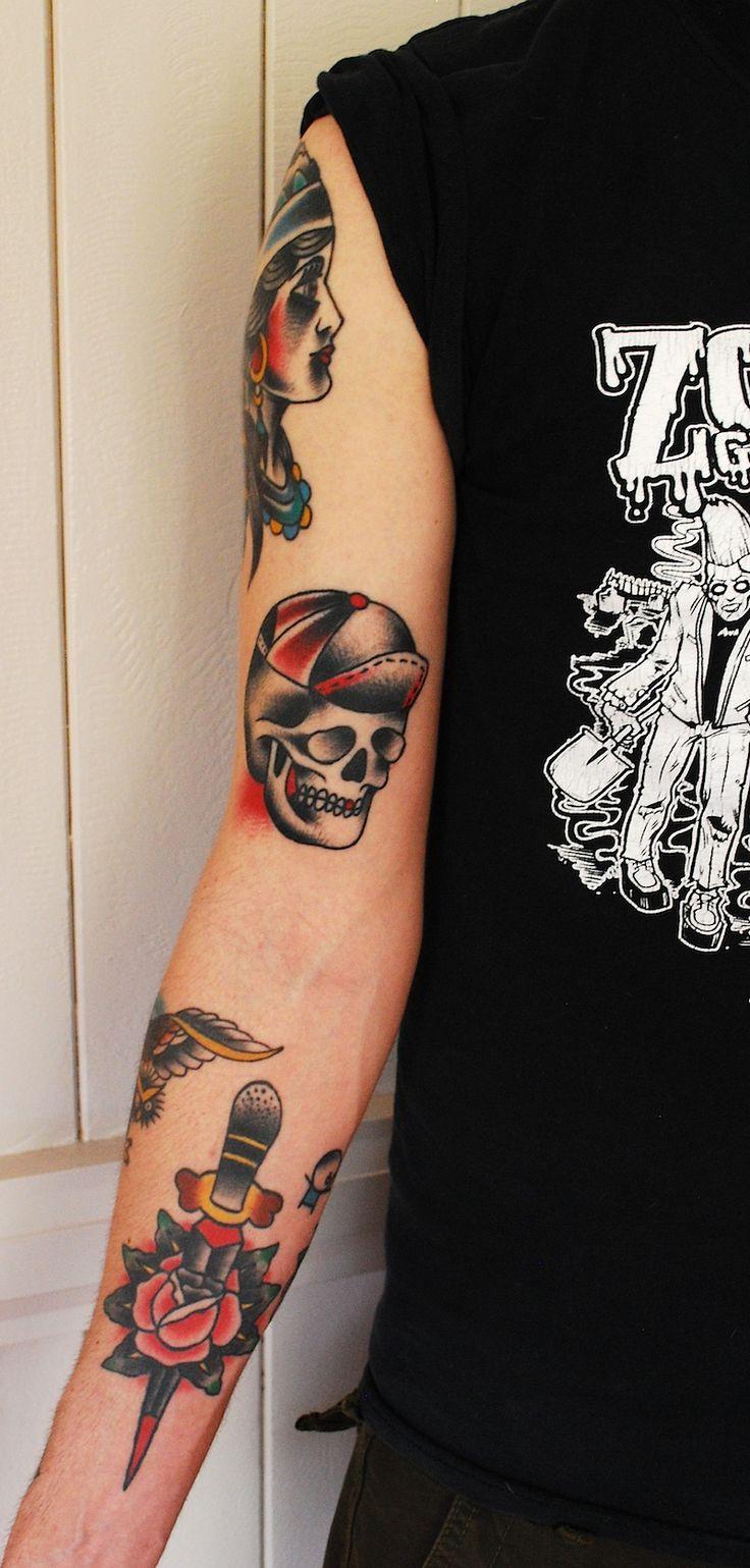 17 best ideas about old school tattoo sleeve on pinterest for Old school tattoo sleeve
