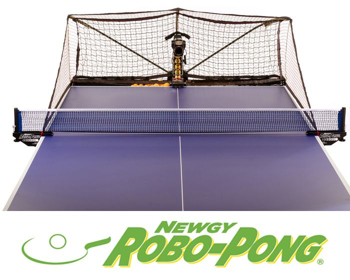 Play ping pong with Robo-Pong... for fun, fitness and training!
