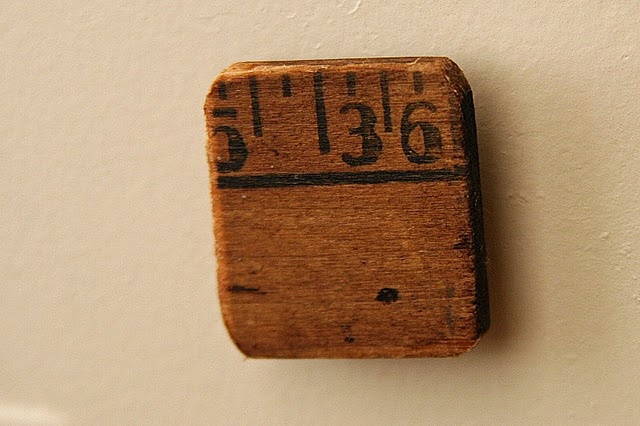 Vintage magnets from an old ruler