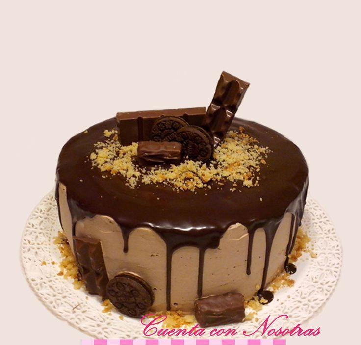 Torta crema, Torta crema y chocolates, Drip Cake, Cuenta con Nosotras