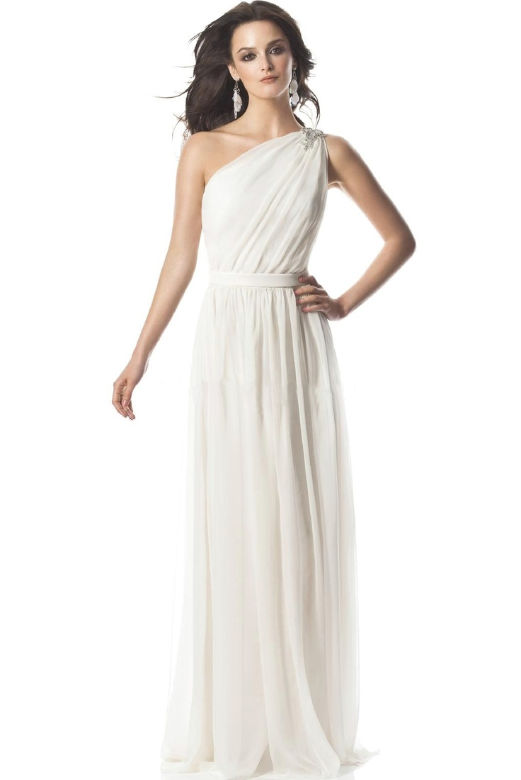 17 best images about greek goddess dresses on pinterest for Grecian chiffon wedding dress