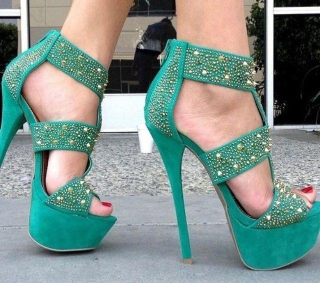 80 best Green High Heels & More images on Pinterest | Green high ...