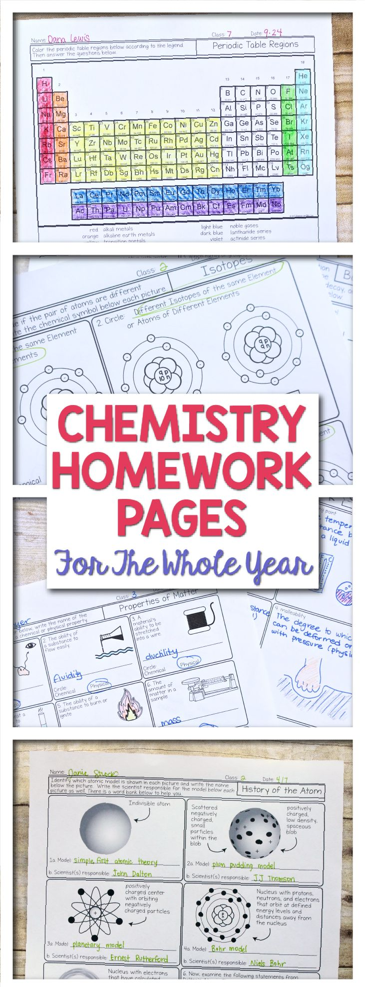 This set of chemistry worksheets will blow you away with the detail, the thoughtful questions and the diagrams. Created to help students work on one specific skill at a time, these are great for honors chemistry and basic chemistry and all students in between. It covers Lewis structures, significant figures, periodic table trends and everything else you want to cover in a first year chemistry course. Science with Mrs. Lau