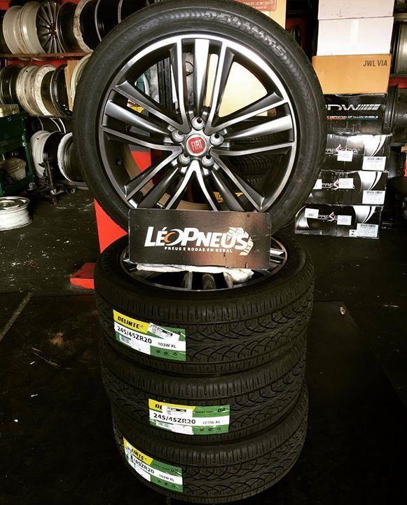 """Partiu Maceio-Alagoas rodas aro """"20 com pneu 245/45/20 Delinte para ser montada na Fiat Toro do nosso cliente @carlos_dubeux valeu a preferência  by leorodaspneus http://ift.tt/1s7e7WP"""