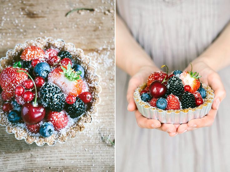Beeren-Tartelettes • Berry Tartlets {vegan, gluten free, lactose free, egg free, wholemeal, naturally sweetened}