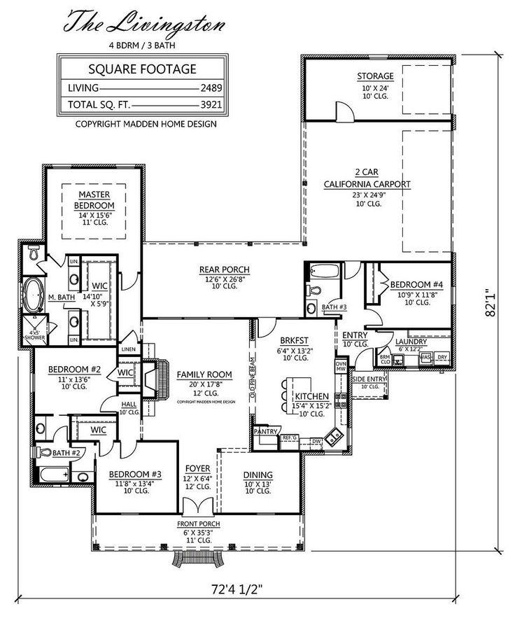 Madden Home Design The Livingston House Plans Pinterest