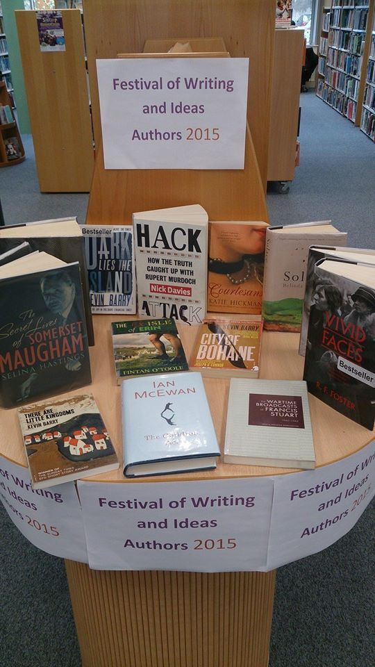 Get caught up with your reading before the festival of writing and ideas!!!!! Borris House 5th-7th June 2015 as part of Carlow Arts Festival 2015. Call into all our libraries to see various books and publications from all the writers involved in this fantastic weekend.