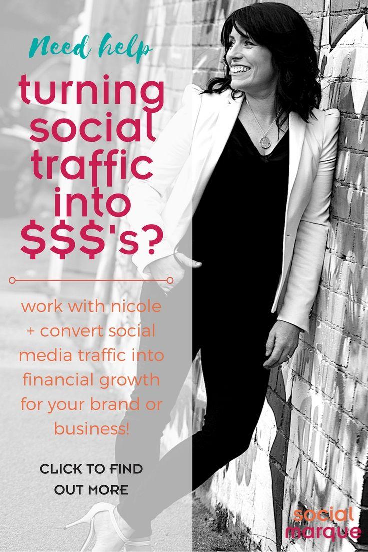 Nicole Smith - Digital Marketing Strategist // Social Marque // socialmarque.com // Work with Nicole + learn how to create traffic funnels using social media.
