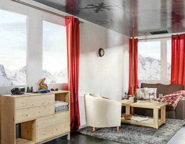 Ski Hotel luxury interior design living room