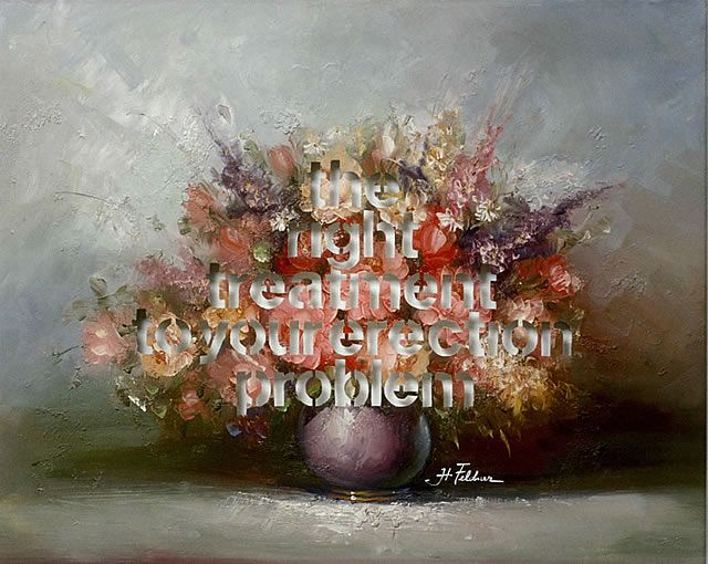 Amikam Toren  Armchair Painting (The Right Treatment to your Erection Problem) Oil on canvas, text cut out (2004) 61x77cm