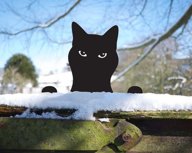 Katze aus Metall für Garten und Balkon / cat made of metal for balcony and garden made by ODE Handgemacht von Jolyon Yates via DaWanda.com