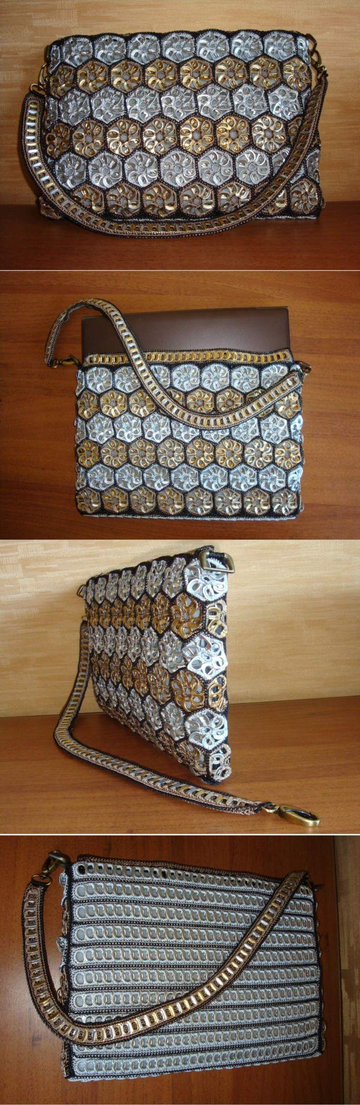 sandylandya@outlook.es  laptop bag made out of aluminum can top tabs