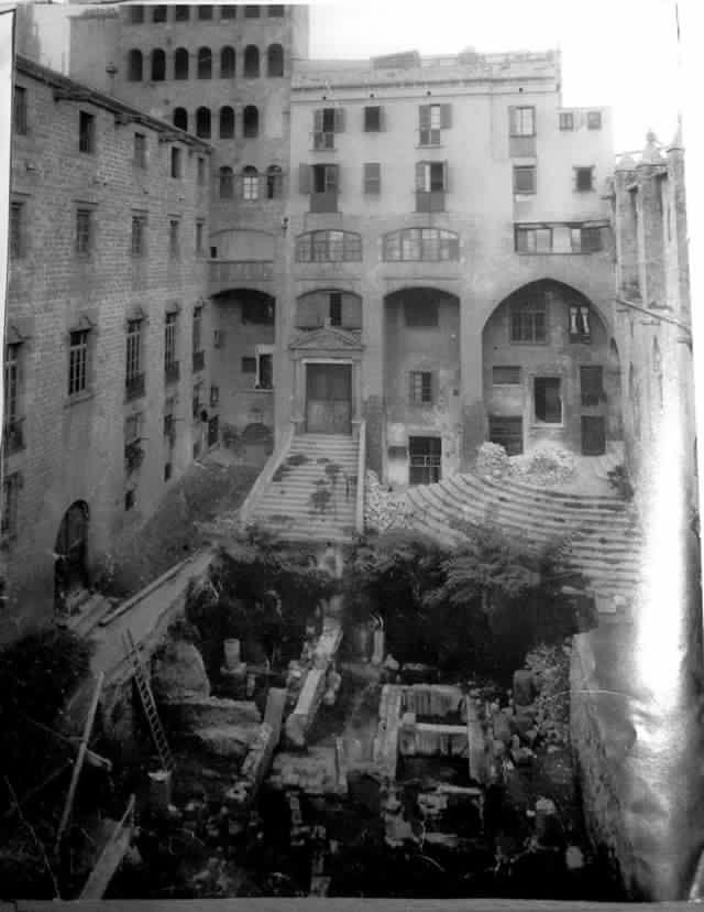 Barcelona, plaça del Rei 1931