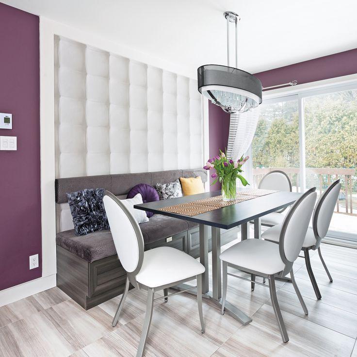 profonde et lgante la teinte aubergine des murs a de quoi exciter les papilles un effet recherch. Black Bedroom Furniture Sets. Home Design Ideas