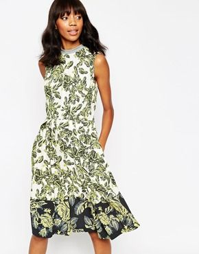 ASOS AFRICA Full Hem Midi Dress