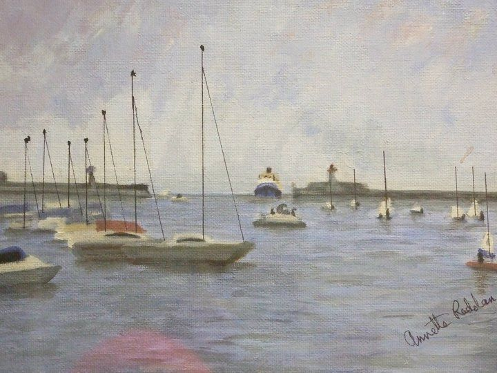 Artist Annette Reddan, Ireland, ' Dun Laoghaire Harbour'  280.00 euro