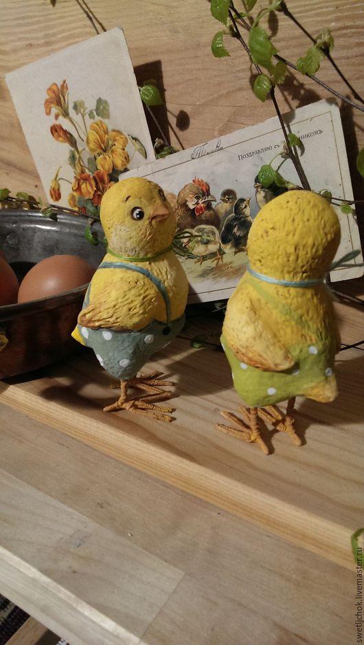 Игрушки животные, ручной работы. Цыплята-мальчишата. Светлана Каночкина,Светлячок и К. Ярмарка Мастеров. Цыплята, пасхальный подарок, нитки