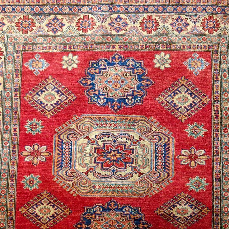 Fine Kazak Ferihan veggie dye rug.  #fine #kazak #ferihan #vegetabledye…