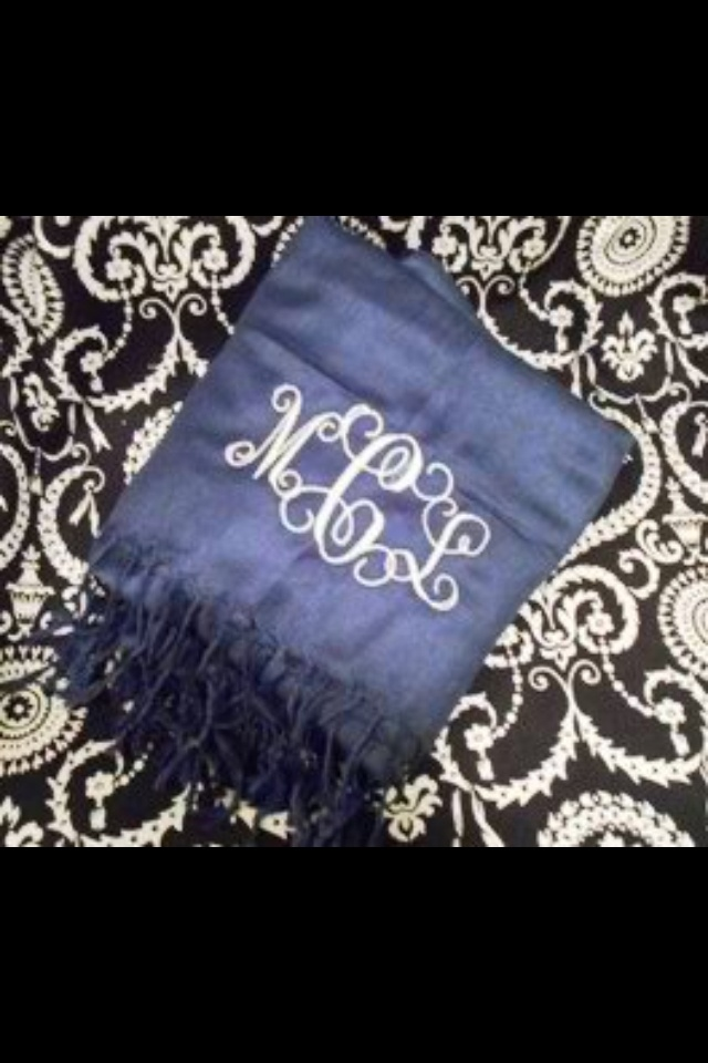 Monogrammed scarfSewing Projects, Monograms Scarf