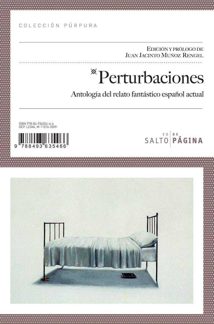 Perturbaciones. Antología del relato fantástico español actual.