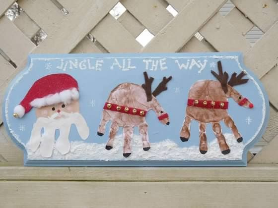 Best 25+ Reindeer handprint ideas on Pinterest | Christmas crafts ...